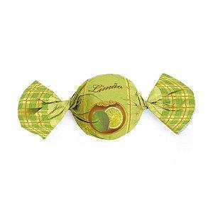 Papel Trufa  14,5x15,5cm - Sabores Limão - 100 unidades - Cromus - Rizzo Embalagens