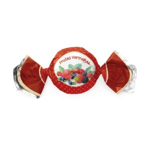 Papel Trufa 15x16cm - Frutas Vermelhas - 100 unidades - Cromus - Rizzo Embalagens