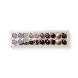 Caixa Retangular para 20 Doces Branco com Tampa Cristal - 10 unidades - 39x9,5x4cm - Cromus Profissional - Rizzo Embalagens