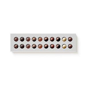 Caixa Retangular para 20 Doces Branco com Luva Vazada - 10 unidades - 39x9,5x4cm - Cromus Profissional - Rizzo Embalagens