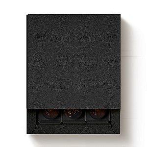Caixa Quadrada para 9 Doces Preto com Luva - 10 unidades - 13x13x4cm - Cromus Profissional - Rizzo Embalagens
