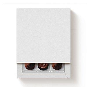 Caixa 9 Doces Quadrada Branco com Luva - 10 unidades - 13x13x4cm - Cromus Profissional