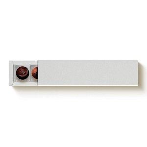 Caixa Retangular para 6 Doces Branco com Luva - 10 unidades - 24,2x6x4cm - Cromus Profissional - Rizzo Embalagens
