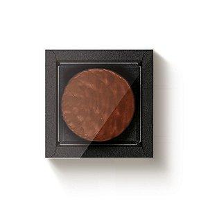 Caixa Quadrada para 1 Pão de Mel Preto com Tampa Cristal - 10 unidades - 9x9x4cm - Cromus Profissional - Rizzo Embalagens