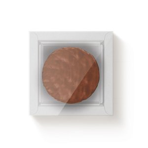 Caixa Quadrada para 1 Pão de Mel Branco com Luva - 10 unidades - 9x9x4cm - Cromus Profissional - Rizzo Embalagens