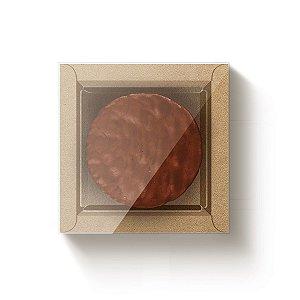 Caixa Quadrada para 1 Pão de Mel Kraft com Luva - 10 unidades - 9x9x4cm - Cromus Profissional - Rizzo Embalagens