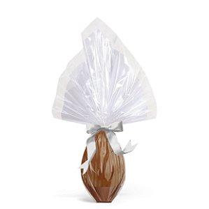 Saco Express Barrado Branco para Ovos de 250g até 500g - 05 unidades - Cromus Páscoa - Rizzo Embalagens