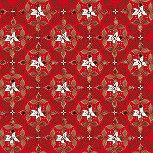 Folha para Ovos de Páscoa Flor de Cacau Vermelho 69x89cm - 05 unidades - Cromus Páscoa - Rizzo Embalagens