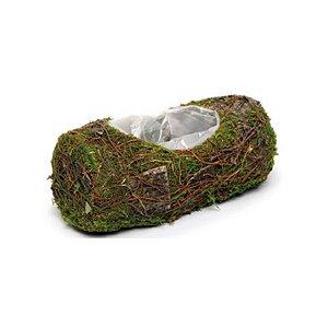 Cachepot Tronco Verde Rústico - 25cm x 10m x 10cm - Linha Rústic - Cromus Páscoa Rizzo Embalagens