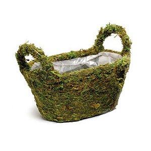 Cesta com Alças Verde Rústica - 25cm x 15m x 15cm - Linha Rústic - Cromus Páscoa Rizzo Embalagens