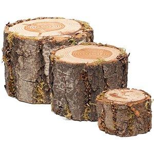 Tronco Decorativo em Madeira Rústico - Linha Rustic - Cromus Páscoa - Rizzo Embalagens