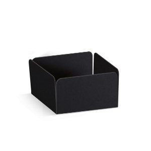 Forminha Reta para Doces Preto  - 100 unidades - 3,5x3,5x2cm - Cromus Profissional - Rizzo Embalagens