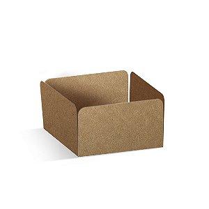 Forminha Reta para Doces Kraft  - 100 unidades - 3,5x3,5x2cm - Cromus Profissional - Rizzo Embalagens