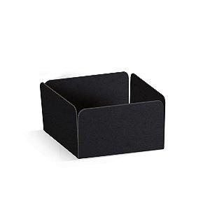 Forminha Reta para Pão de Mel Preto  - 100 unidades - 7,3x7,3x3,5cm - Cromus Profissional - Rizzo Embalagens