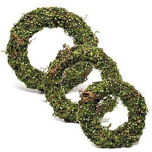 Guirlanda Folhas Decorativa Verde e Marrom Rústica - Linha Rustic - Cromus Páscoa - Rizzo Embalagens