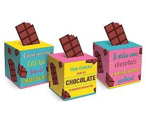 Caixa Pop Up Chocolate Sortido P 7x7x7cm - 10 unidades - Cromus Páscoa - Rizzo Embalagens
