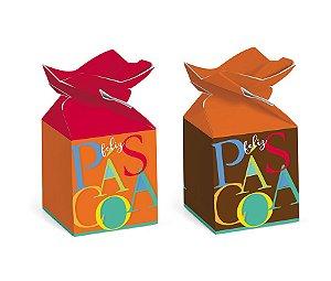 Caixa Trouxinha Páscoa Cores 5,5x5,5x10,5cm - 10 unidades - Cromus Páscoa - Rizzo Embalagens
