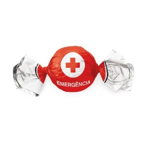 Papel Trufa 14,5x15,5cm - Emergência - 100 unidades - Cromus - Rizzo Embalagens