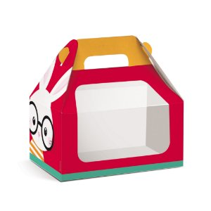 Caixa Maleta Kids com Visor Páscoa Cores - 10 unidades - Cromus Páscoa - Rizzo Embalagens