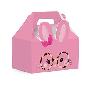 Caixa Maleta Kids Páscoa Play Rosa - 10 unidades - Cromus Páscoa - Rizzo Embalagens