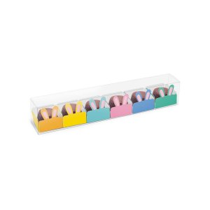 Caixa Clean 6 Doces com Forminha de Orelinha Páscoa Cores - 10 unidades - Cromus - Rizzo Embalagens