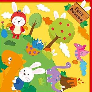 Saco Express 24x24cm para Ovos de 100g a 150g - Dino Páscoa - 05 unidades - Cromus Páscoa - Rizzo Embalagens