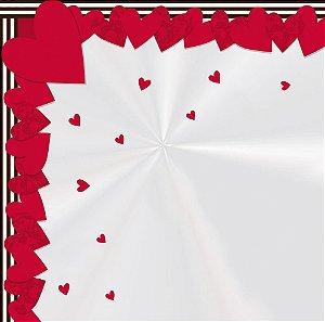 Saco Express 37,5x37,5cm para Ovos Coração de 250g a 350g - In Love - 05 unidades - Cromus Páscoa - Rizzo Embalagens