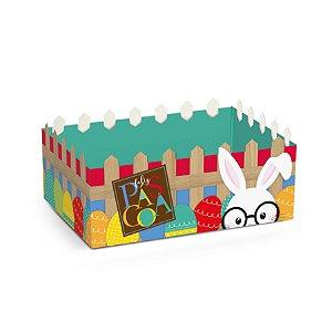 Cesta Cerquinha de Papel Cartão Páscoa Cores - Cromus Páscoa - Rizzo Embalagens