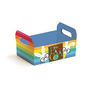Caixote de Papel Cartão Multicolorido - 01 unidade - Cromus Páscoa - Rizzo Embalagens