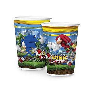 Copo de Papel Festa Sonic 180ml - 8 unidades - Regina Festas - Rizzo Embalagens e Festas