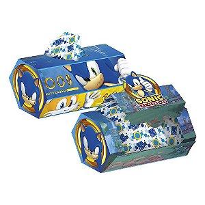 Caixa Surpresa Festa Sonic - 8 unidades - Regina Festas - Rizzo Embalagens e Festas