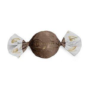 Papel Trufa 14,5x15,5cm - Cacau Marrom - 100 unidades - Cromus - Rizzo Embalagens