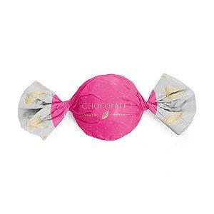 Papel Trufa 14,5x15,5cm - Cacau Pink - 100 unidades - Cromus - Rizzo Embalagens