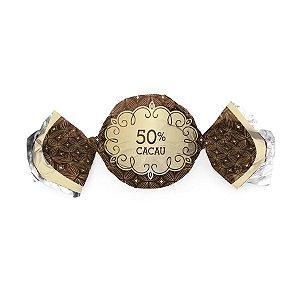 Papel Trufa 15x16cm - Gostosura 50% Cacau - 100 unidades - Cromus - Rizzo Embalagens