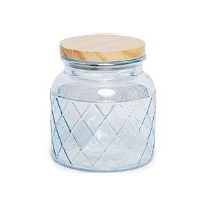 Pote de Vidro Azul Pastel Losango M - 15x10x10cm - Linha Drops - Cromus Páscoa - Rizzo Embalagens
