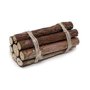 Lenha Decorativa em Madeira - 10cm x 20cm x 10cm - 1 unidade  - Cromus Páscoa - Rizzo Embalagens