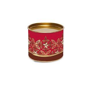 Lata para Bombons Vermelho e Dourado Linha Chocolate - 10x10x7cm - Cromus Páscoa - Rizzo Embalagens