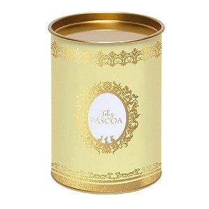 Lata para Ovo 350g Amarelo Linha Royalle - 13x13x18cm - Cromus Páscoa - Rizzo Embalagens