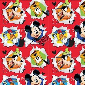 Folha para Ovos de Páscoa Mickey Friendship Vermelho 69x89cm - 05 unidades - Cromus Páscoa - Rizzo Embalagens