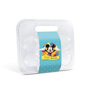 Maleta para 6 Ovinhos Mickey com Cinta- 10 unidades - Cromus Páscoa Disney - Rizzo Embalagens
