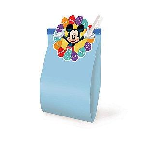 Saquinho com Fechamento Azul 14x8x4cm Páscoa Mickey Disney - 10 unidades - Cromus Páscoa Disney - Rizzo Embalagens