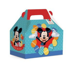 Maleta Kids M 12x12x8cm Azul Mickey - 10 unidades - Cromus Páscoa Disney - Rizzo Embalagens