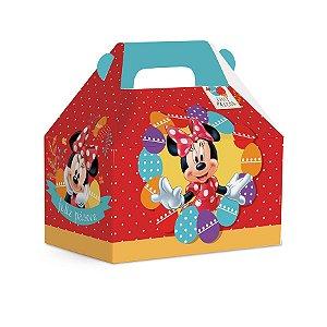 Maleta Kids M 12x12x8cm Vermelho Minnie - 10 unidades - Cromus Páscoa Disney - Rizzo Embalagens