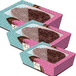 Caixa Practice para Meio Ovo Chocolatier - 06 unidades - Cromus Páscoa - Rizzo Embalagens
