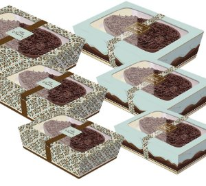 Caixa Practice para Meio Ovo Chocolate Turquesa Sortido - 06 unidades - Cromus Páscoa - Rizzo Embalagens