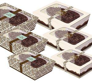 Caixa Practice para Meio Ovo Chocolate Marfim Sortido - 06 unidades - Cromus Páscoa - Rizzo Embalagens