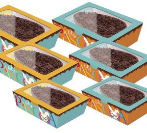 Caixa Practice para Meio Ovo Páscoa Cores Sortido - 06 unidades - Cromus Páscoa - Rizzo Embalagens