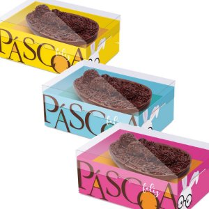 Caixa New Practice com Regulagem de Altura Meio Ovo Páscoa Cores Sortido - 06 unidades - Cromus Páscoa - Rizzo Embalagens