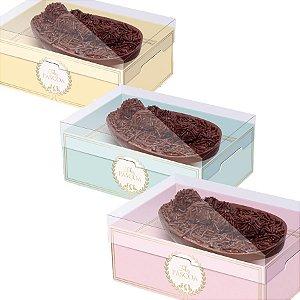 Caixa New Practice com Regulagem de Altura Meio Ovo Royalle Sortido - 06 unidades - Cromus Páscoa - Rizzo Embalagens