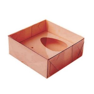 Caixa Ovo de Colher - Meio Ovo de 50g - 10cm x 10cm x 4cm - Rosê - 5unidades - Assk - Páscoa Rizzo Embalagens